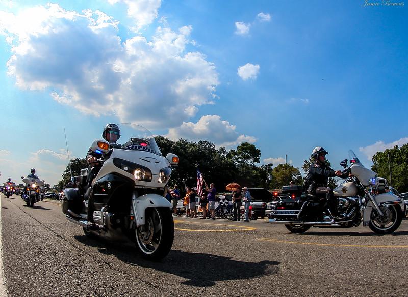 Sheriff with Honda  Motorcycle?