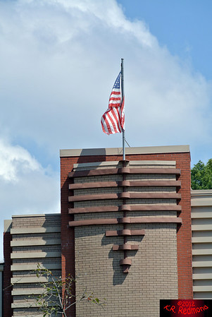 Flag over the Jacob Building