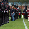 Brennan Ashmore salutes the East Limestone Band military style before the game between East Limestone and Hartselle at East LImestone High School Friday, September 11, 2009.
