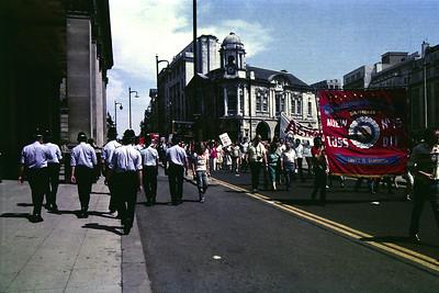 Miner´s strike in Birmingham, England