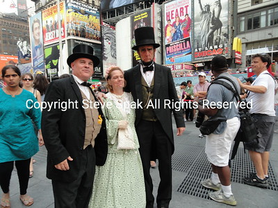 Abe Lincoln visits Broadway