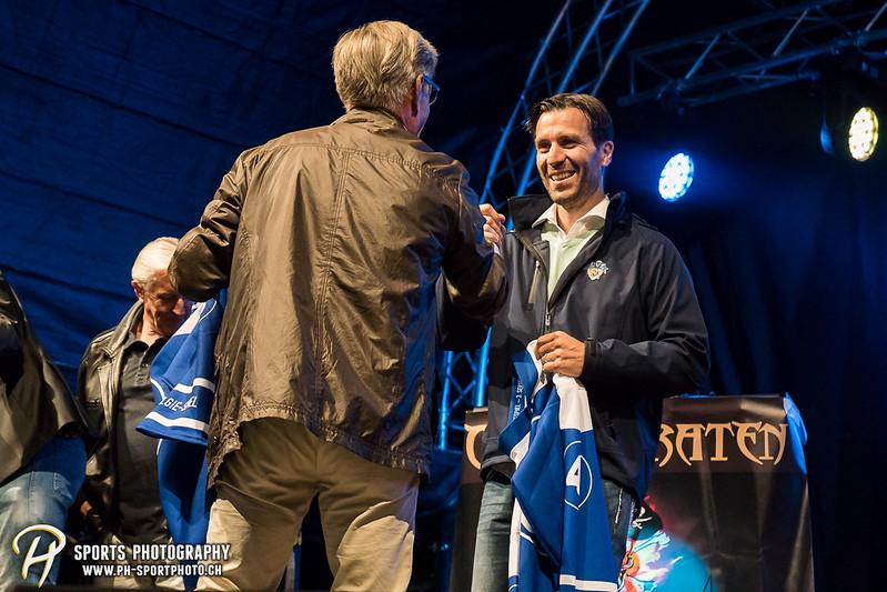 EVZ-Volksfest - Präsentation 1. Mannschaft des EV Zug und EVZ Legenden - Bild-ID: 201709020320
