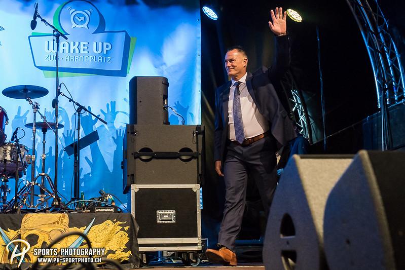 EVZ-Volksfest - Präsentation 1. Mannschaft des EV Zug und EVZ Legenden - Bild-ID: 201709020331