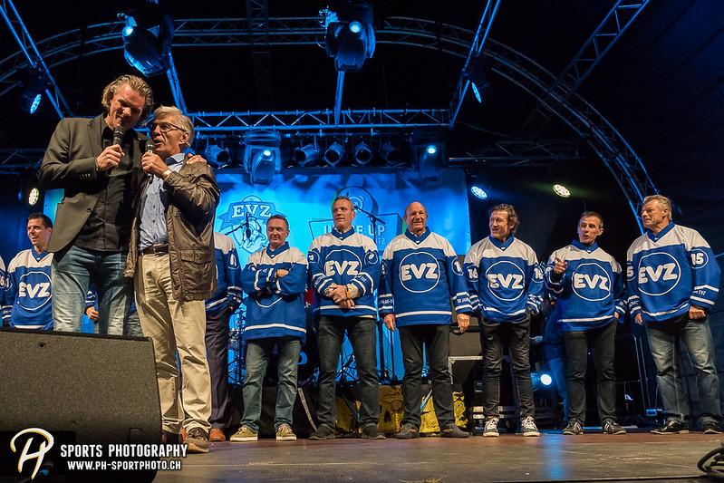 EVZ-Volksfest - Präsentation 1. Mannschaft des EV Zug und EVZ Legenden - Bild-ID: 201709020368