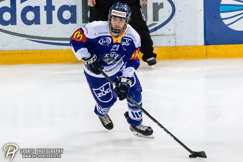 Novizen Elite Junioren Playoffs - Halbfinal - Spiel 1: EV Zug - EHC Kloten - 1:2