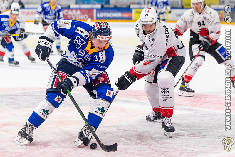Swiss League - 20/21: EVZ Academy - EHC Visp - 02-10-2020