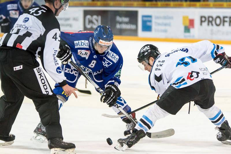 Elite A Junioren 2014/15 - Der EV Zug gewinnt im ersten Playoff 1/4 Finalspiel gegen Gottéron MJ Sàrl 3:2 OT