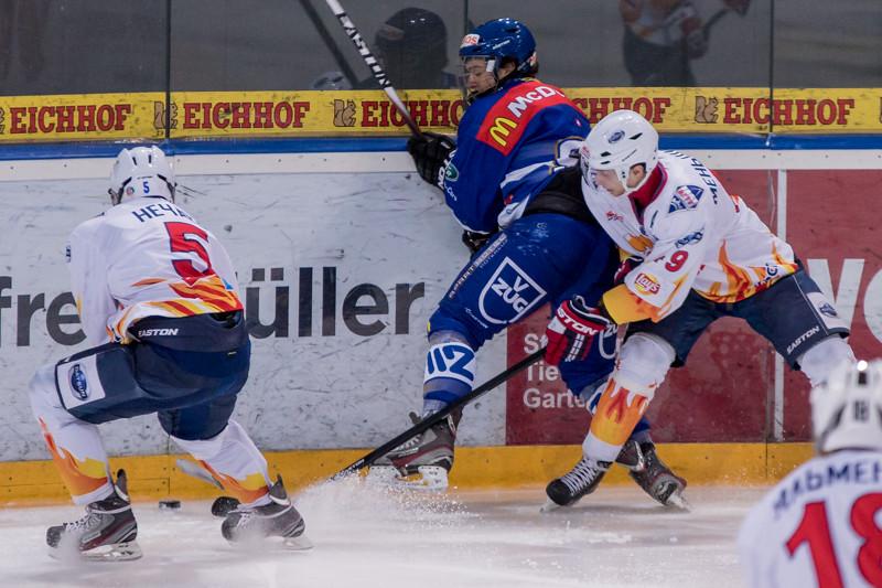 Exhibition Game 2015 - EV Zug verliert gegen Metallurg Magnitogorsk 2:5