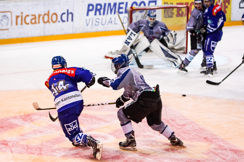 Elite A Junioren 2014/15 - Der EV Zug gewinnt gegen EHC Biel-Bienne Spirit 4:1