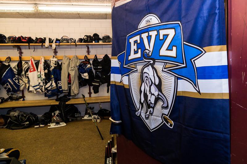 Einblick in die Kabine der EVZ Elite A Junioren