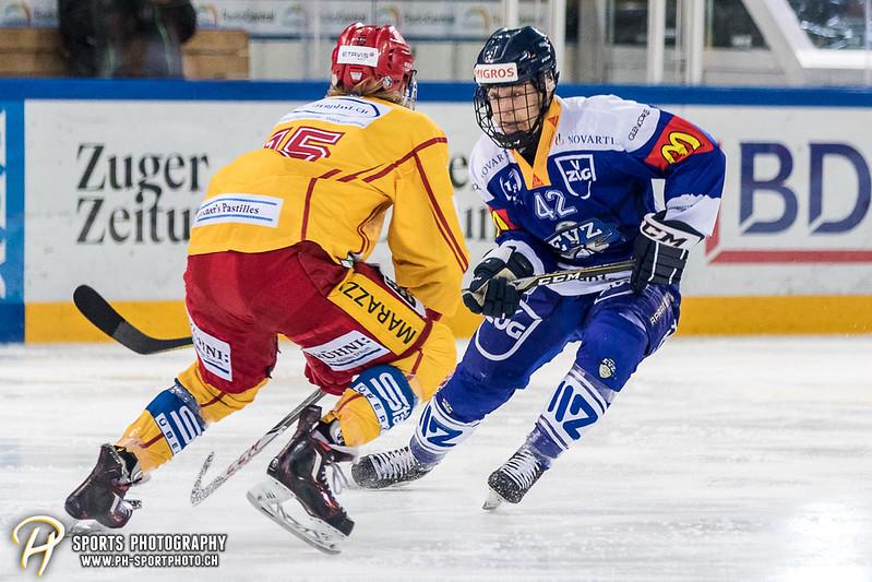 Junioren Elite A: EV Zug - SCL Young Tigers - 1:2 SO