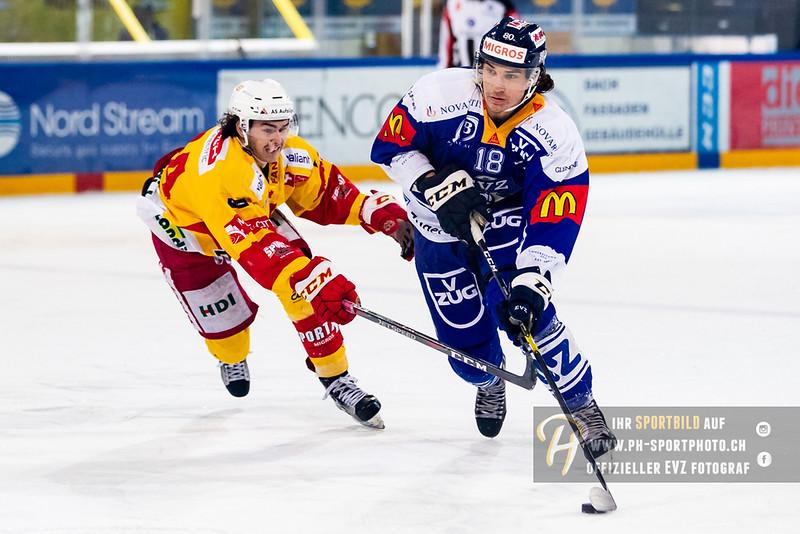 Elite A Junioren - 18/19: EV Zug - EHC Biel-Bienne Spirit - 18-11-2018