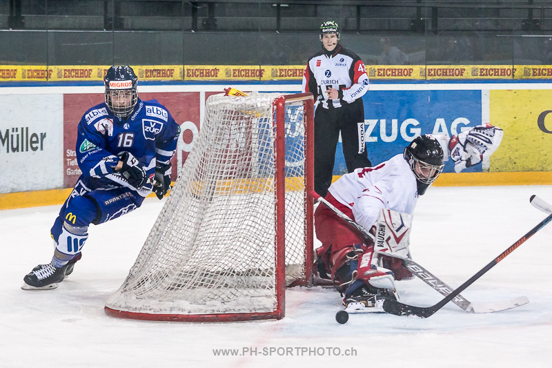 Junioren Elite A Playoff Viertelfinal, Spiel 3: EV Zug - Lausanne 4 Clubs - 5:3