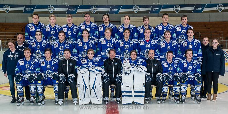 EV Zug Junioren Elite A Mannschaftsfoto Saison 2016/2017