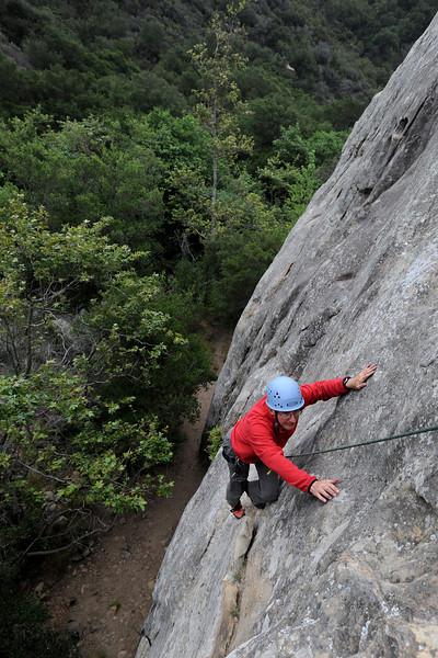 "Jim Davis, of Iowa, climbs ""Face Lift"" at San Ysidro."