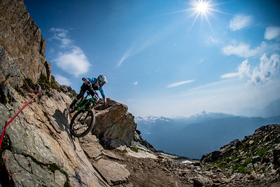 Sarah Leishman. Enduro World Series Training. Crankworx Whistler 2017. Photo by: Scott Robarts