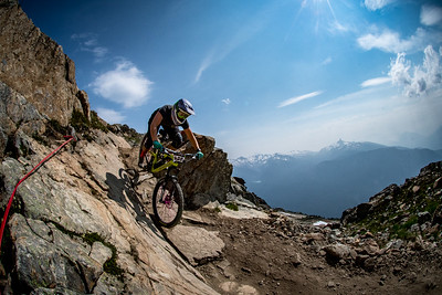 Alexandra Pavon. Enduro World Series Training. Crankworx Whistler 2017. Photo by: Scott Robarts