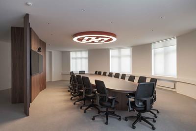 19 Innenraumgestaltung der Schweizer Filiale der Chinesischen Grossbank ICBC, Zürich - grosses Sitzungszimmer. EXH Design, 2018