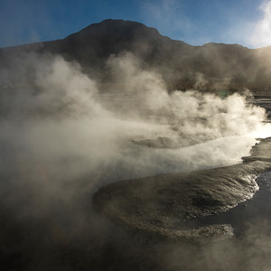 Tatio Geyser at sunrise