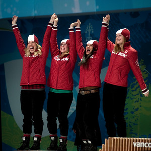 short track speed skating - Canada,  GREGG Jessica   ROBERGE Kalyna   ST-GELAIS  Marianne   VICENT Tania  - SILVER MEDAL