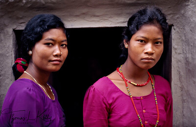 THARU WOMEN   Tharu women occupy an empowered space both in the family and the community. They have considerable freedom and wield strong influence in the domestic sphere. Tharu women enjoy greater socio-economic rights and gender freedom, which is the product of the tribal social system, governing their lives and day-to-day living.  Dang Valley,  Nepal
