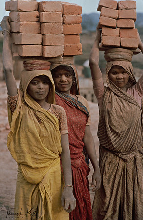 MIGRANT LABOR  With more than a million people now living in the Kathmandu Valley, the demand for housing and office space creates jobs for many local under-age girls in brick factories that are scattered around Kathmandu valley.  Kathmandu, Nepal.