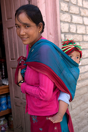 "MOTHERHOOD  ""I am so lucky that I gave birth to a son!""  Jumla, Nepal."