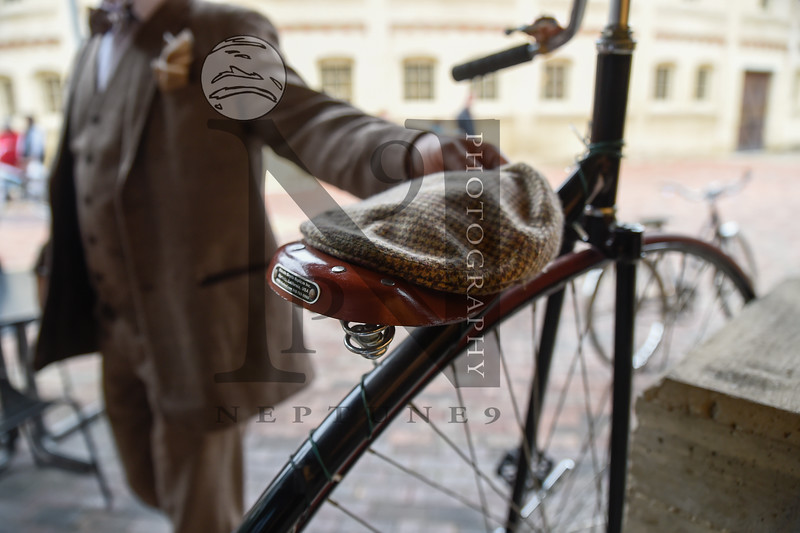 """The San Antonio Tweed Ride and Toy Drive, a fashionably fun and charitable group bicycle ride through downtown SATX, in which the cyclists are expected to dress in traditional Early American or British cycling attire graced the streets on 11 Dec 2016. Gallery: <a href=""""http://smu.gs/2ho3J92"""">http://smu.gs/2ho3J92</a>"""