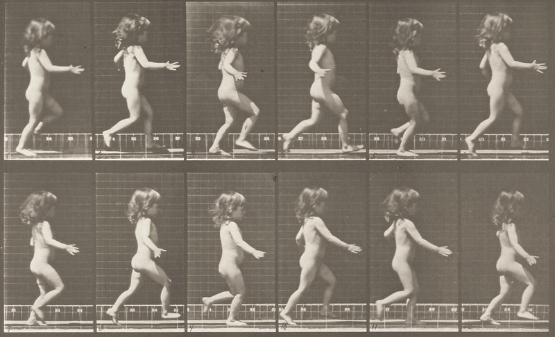 Nude child running (Animal Locomotion, 1887, plate 469)