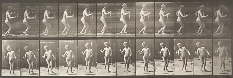 Nude man walking (Animal Locomotion, 1887, plate 561)