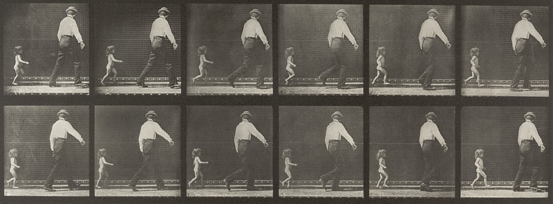 Nude child running (Animal Locomotion, 1887, plate 470)