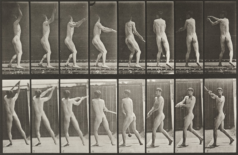 Nude man throwing the hammer (Animal Locomotion, 1887, plate 309)