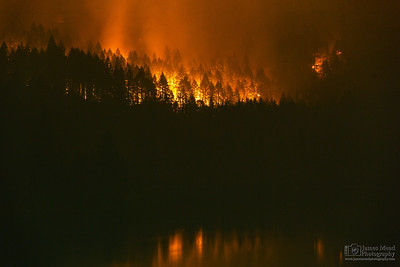 """Eagle Creek Wildfire at Eagle Creek 142mm,"" Cascade Locks, Columbia River Gorge, Oregon"