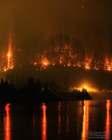 """Eagle Creek Wildfire: Wahclella Falls 140mm,"" Columbia River Gorge, Oregon"