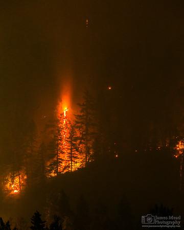 """Eagle Creek Wildfire: Wahclella Falls 400mm,"" Columbia River Gorge, Oregon"