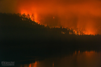 """Eagle Creek Wildfire at Eagle Creek 1,"" Cascade Locks, Columbia River Gorge, Oregon"