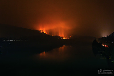 """Eagle Creek Wildfire at Eagle Creek 24mm,"" Cascade Locks, Columbia River Gorge, Oregon"