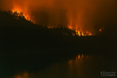 """Eagle Creek Wildfire at Eagle Creek 70mm B,"" Cascade Locks, Columbia River Gorge, Oregon"