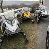 "Joe Rogge of Adams sent us this ""before"" pic of his snowmobiles in waiting. Click to the next slide to see them after Sunday night's snow."