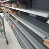 Juraye Moran sent this photo of nearly bare shelves of a Pittsfield store after Sunday's rush of patrons stocking up for the storm.