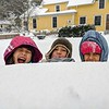 "Sopheap Nhim sent us this photo of ""excited kids"" enjoying a snow day."