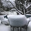 Wendy Penner sent in this image of a snowy patio.