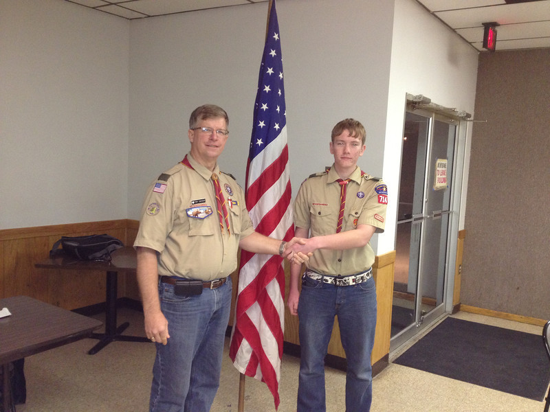 Tony Swenson (Scout Master) and Connor Winters