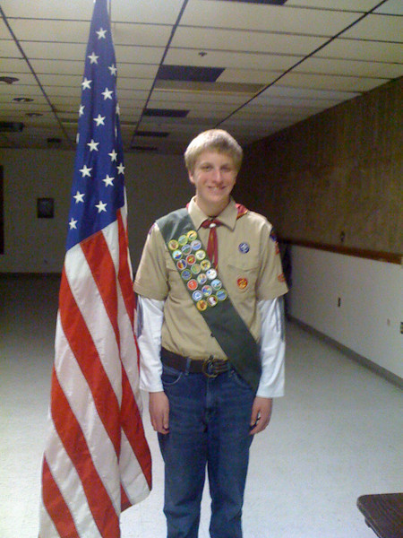 Jon had his Eagle Board of Review on March 1, 2011, and received his Eagle Award.