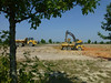 Construction of Eagle Springs is underway.  A lot of earth is being moved.  This is the pond area being developed