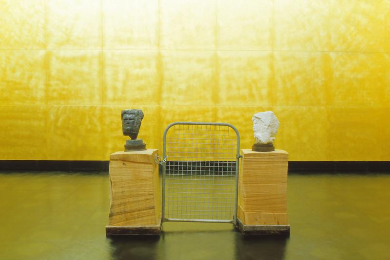 Two Gates: Penates Household Gods<br /> <br /> 5th Australian Sculpture Triennial 1993 - Different Premises - 101 Collins St Melbourne