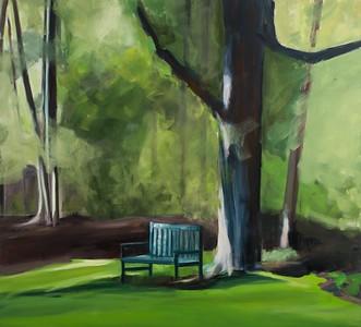 The Blue Bench, Late, Studio Garden Series