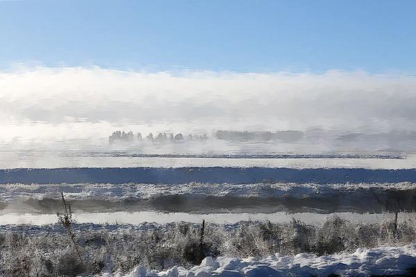 winter fog ...