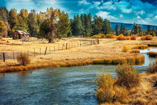 farmstead in the fall ...