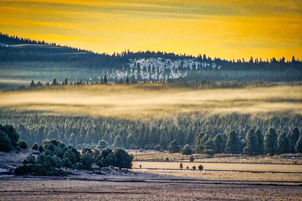 valley fog at sunrise ...